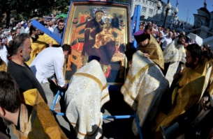 10 thousand people take part in sacred procession from Voronezh to Zadonsk