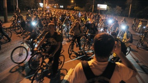 5th Anniversary Bicycle Night gathers over 5 thousand Voronezh citizens