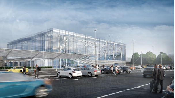 Concept of a new airport terminal introduced in Voronezh