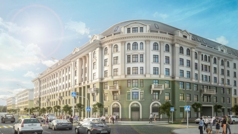 New apartment building to be constructed at address 6 Lenin Square in Voronezh