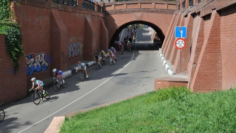 "Photo by RIA ""Voronezh"". How city center hosted Russian Road Bicycle Racing Championship"