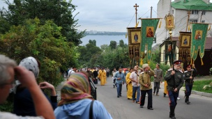 1025th anniversary of Christianization of Russia religious procession in Voronezh
