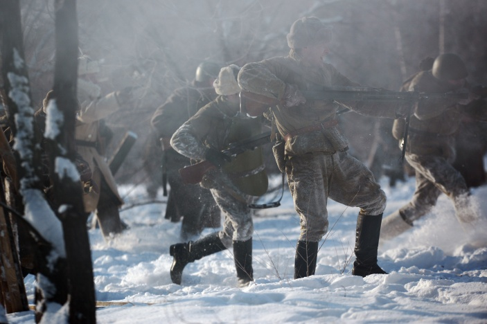 Civilians included in scenario of reenactment of Battle for Voronezh for the first time