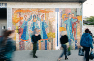 Soviet trace. Where mosaics from USSR era have remained in Voronezh