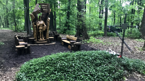 First monument is installed on Great Voronezh Eco Trail