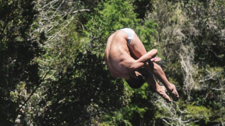 Voronezh cliff-diver takes 8th place in World Cliff Diving Series in Portugal